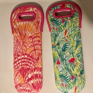 Lily Pulitzer Wine Bags